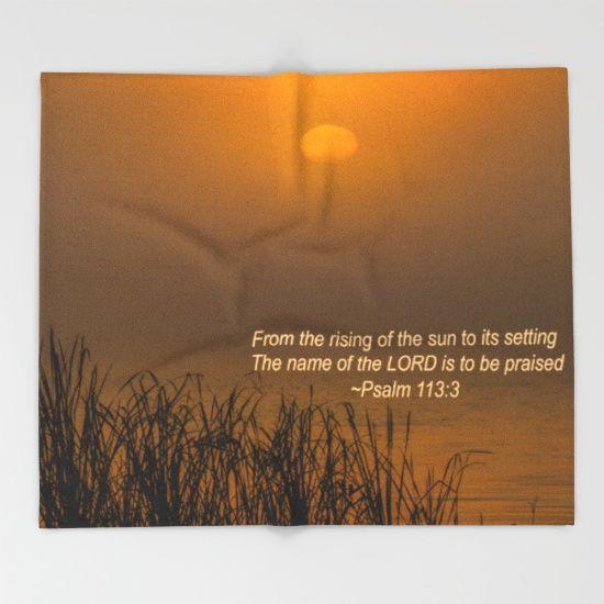 Psalm 113:3 Sunrise Throw Blanket