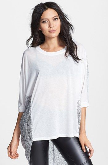 Lucca Couture High/Low Sheer Mesh Top | Nordstrom