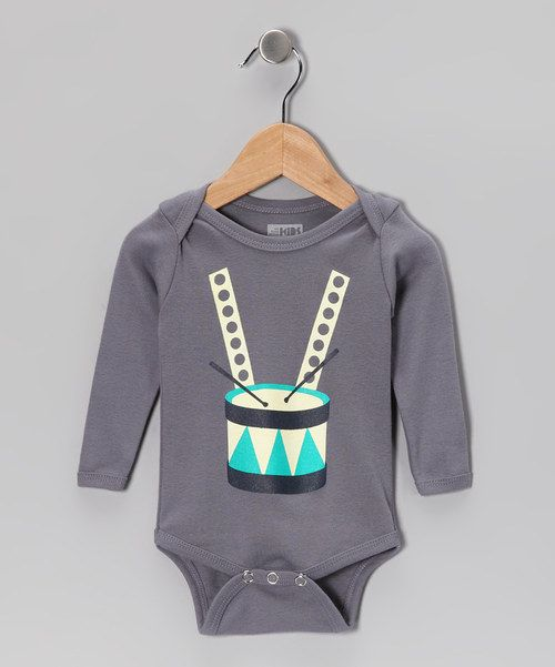 Take a look at this All Good Living Kids Gray Drums Organic Long-Sleeve Bodysuit - Infant on zulily today!