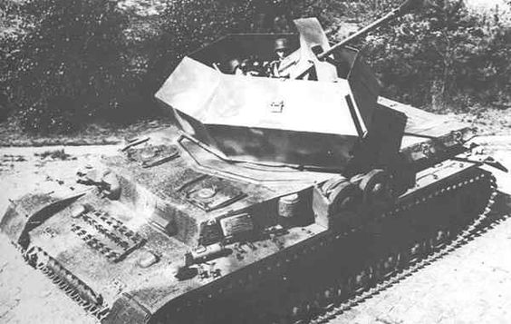 "German 50 Mm Anti Tank Gun: A German Flakpanzer ""Ostwind'' 3,7-cm-FlaK 43, Self"