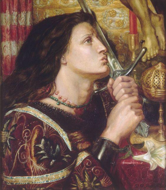 Jeanne d'Arc embrassant l'épée de la délivrance.