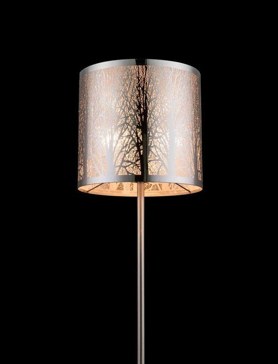 Globo Stehleuchte nickel matt, 15085S Stehlampe kaufen