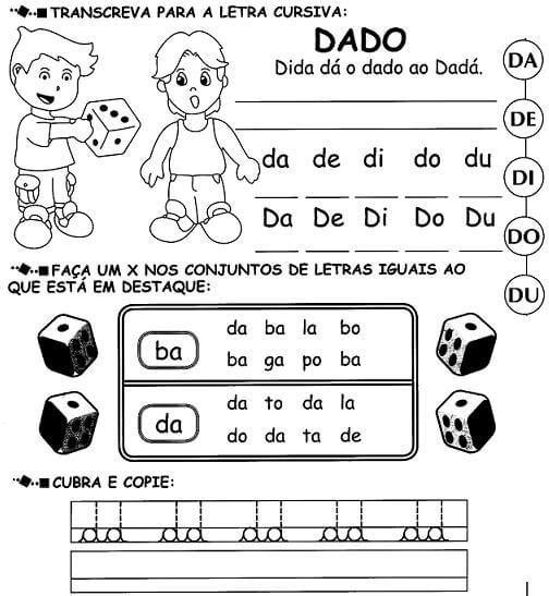 Atividades Silabas Com Da De Di Do Du Para Imprimir Com Imagens