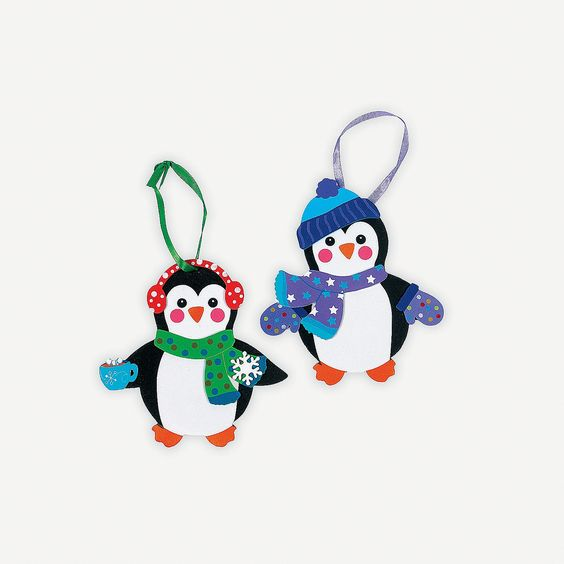 Fabulous Foam Penguin Ornaments - #ChristmasWishList #OrientalTrading.com