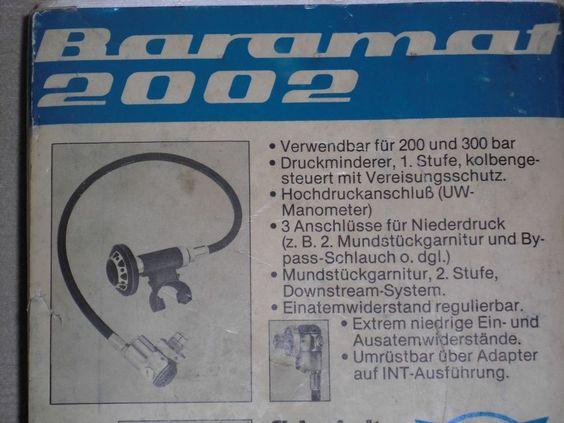 Barakuda Wassersport Atemregler Lungenautomat Baramat 2002