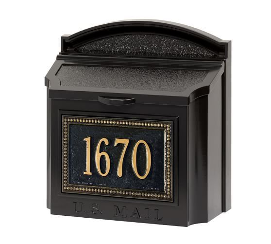 Beaded Wall Mailbox Black Gold Barn Door Designs Wall Mount Mailbox Mailbox
