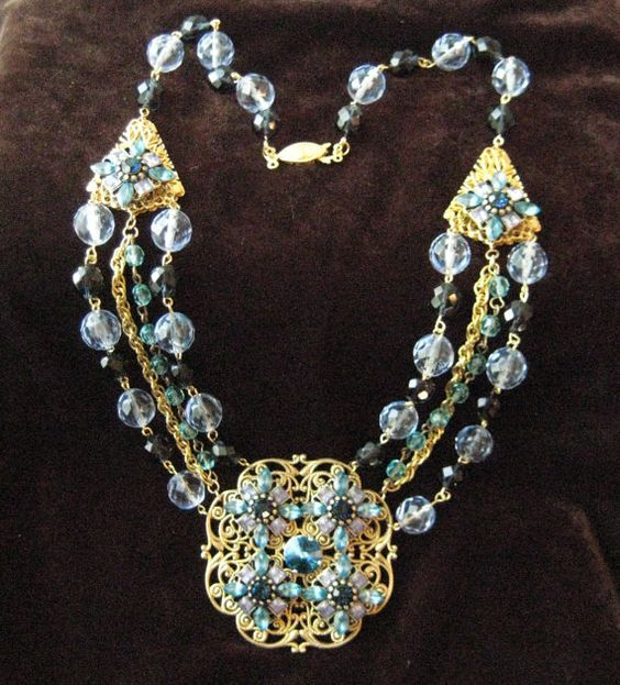 45 oFF  Cool Waters  Crystal Rhinestone Multistrand by zoejane1, $68.75
