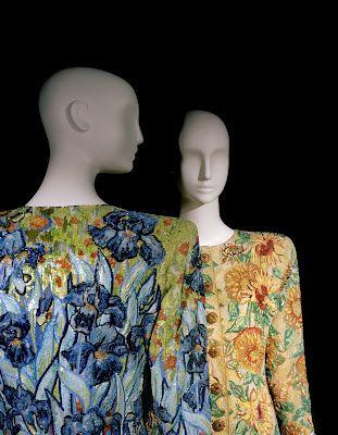 Irises Ensemble in Tribute to Vincent Van Gogh. Spring-Summer 1988. Sunflowers Ensemble in Tribute to Vincent Van Gogh. Spring-Summer 1988. Foundation Pierre Bergé – Yves Saint Laurent. Photo: Alexandre Guirkinger