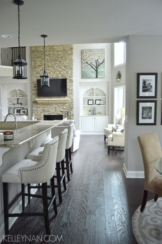 Fireplaces Bar Chairs And Hardwood Floors On Pinterest