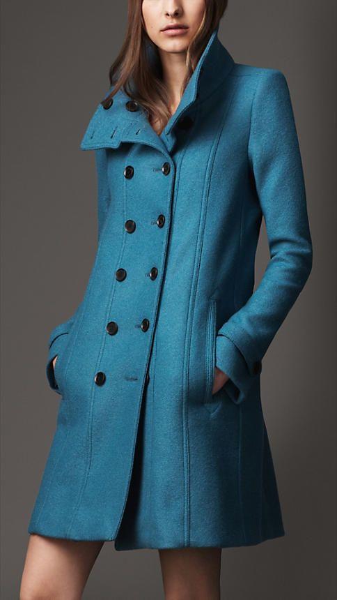 Teal Wool Coat Coat Nj