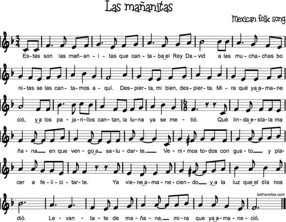 Las Mau00f1anitas : Elementary Music Ideas : Pinterest