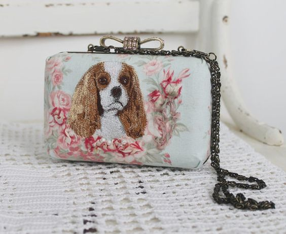 Cavalier King Charles Spaniel Purse/ Reserved /  by daydogdesigns, $65.00