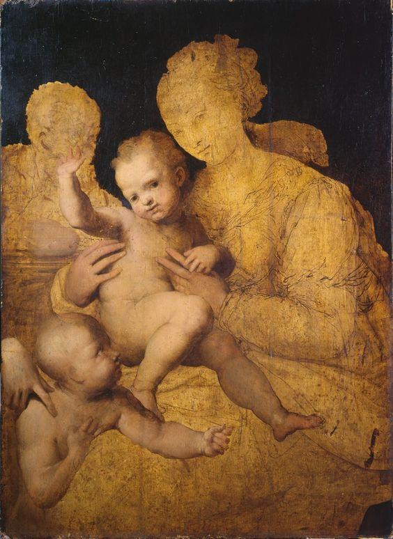 Perino del Vaga (1501 - 1547)- Holy Family with Saint John the Baptist, 1528-37