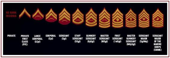 @U.S. Marines enlisted ranks chart - Helpful for the new @Kaylee Score Score Score Score and #MilSpouses