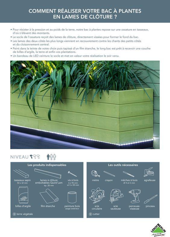 Créer un bac à fleurs avec des lames de clôture