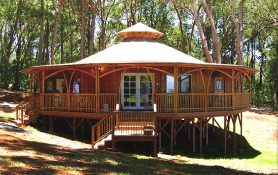 Pavilion bamboo house alternative for green home plans for Alternative home plans