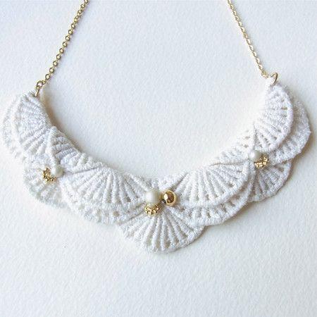 An Meru Lace Necklace by HOMAKO