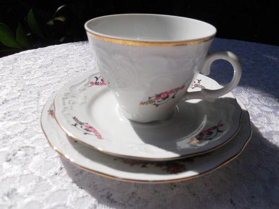 Vintage Menuet Poland Tea cup Trio Royal by DimitrijNigodoff