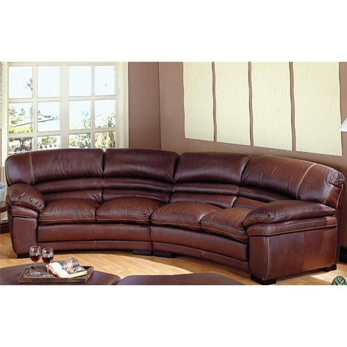 Curved Sectional Sofa With Recliner, Curved Leather Reclining Sectional Sofa