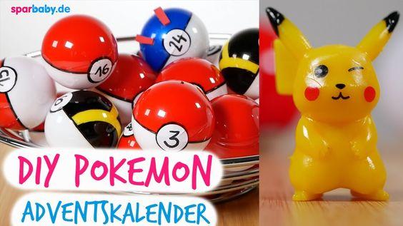 DIY Pokemon Adventskalender mit Pokeball selber machen - Anleitung
