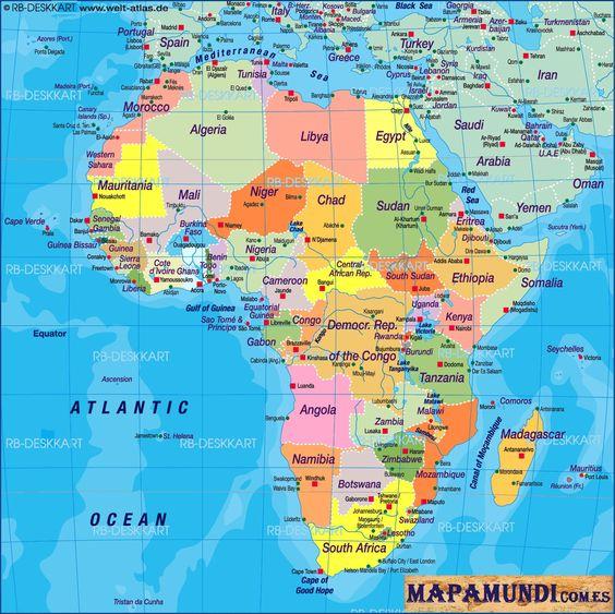 Etiquetas Mapa  Mapa de Africa  Mapamundi  Politico  World