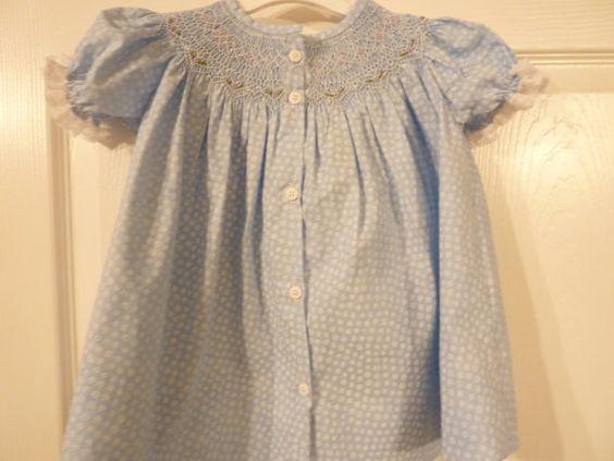 Sweet English smocked baby dress by ArkansasDoodleStitch on Etsy, $50.00