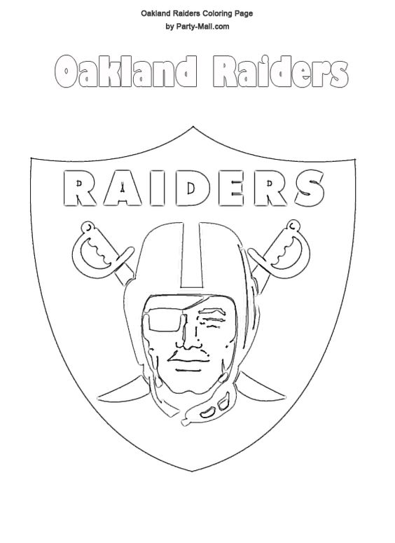 oakland raiders logo | Free Oakland Raiders Coloring Page ...