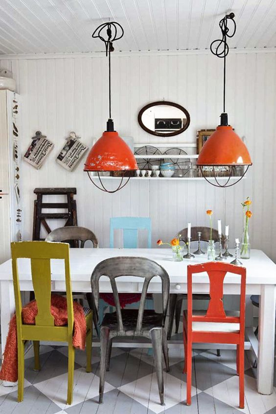 kitchen lamps and chairs