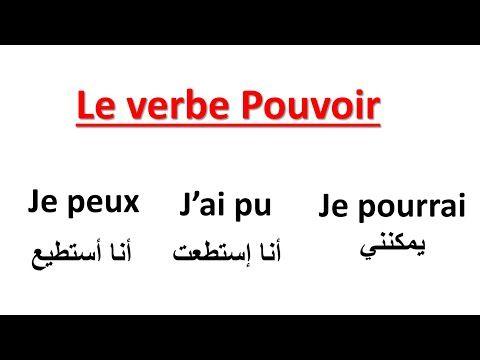 Conjugaison Le Verbe Pouvoir Au Present Au Passe Compose Et Au Futur تعلم الفرنسية Youtube Learn English French Language Learning