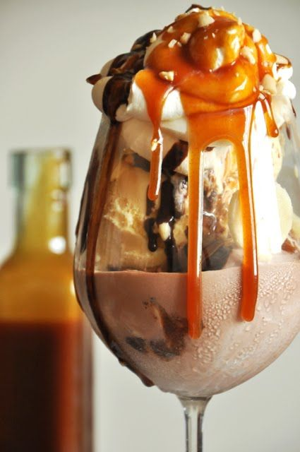 Well this sounds horrible... A CUP OF JO: Ice-Cream Sundae With Bourbon Caramel Sauce. So decadent!