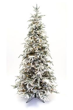 7.5' Flocked Balsam Prelit Artificial Christmas Tree