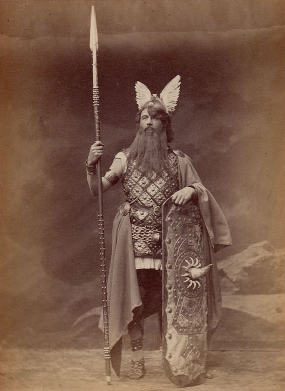 "Photograph (1876), by Josef Albert (1825-1886), of Franz Betz (1835-1900), as Wotan, in ""Die Walküre"" (1856), by Richard Wagner (1813-1883)."
