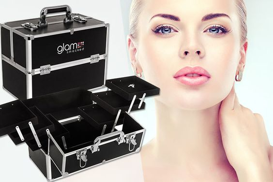 Wowcher   Deal - Sashtime/£19 instead of £44 (from Sashtime) for a three-tier cosmetic vanity train case - store your stash in style and save 57%