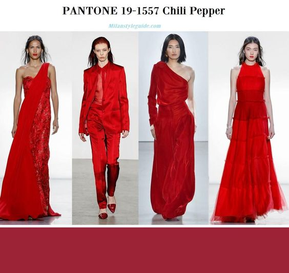 PANTONE 19-1557 Chili Pepper fall winter 2019 2020