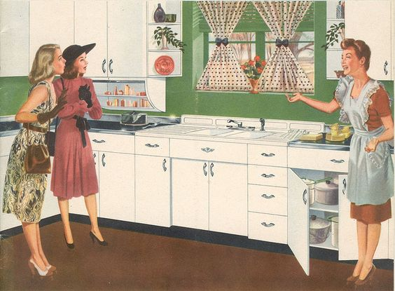 """Youngstown Kitchen Catalog 1947   These are the exact cabinets my parents had until 1995! My Dad would paint them every decade or so to """"freshen"""" them & pacify my Mom for a while - LOL!! :)"""