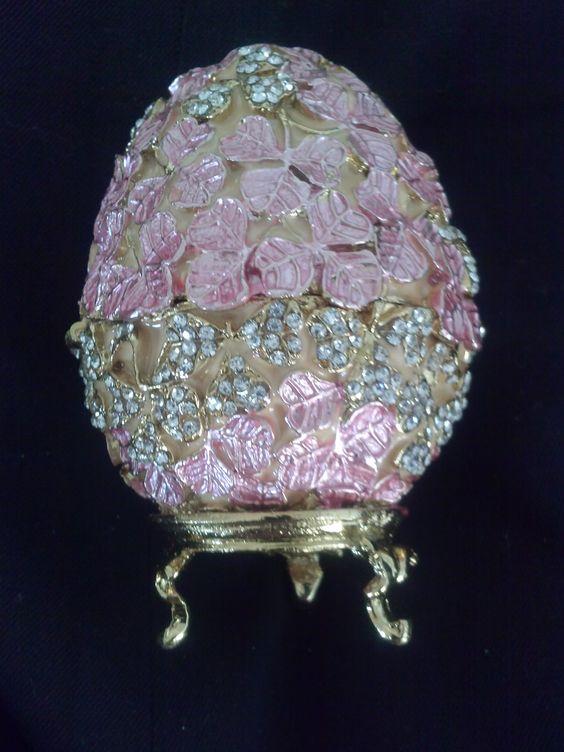Exqusite Egg  Embelleshed in Swarvoski Crystals