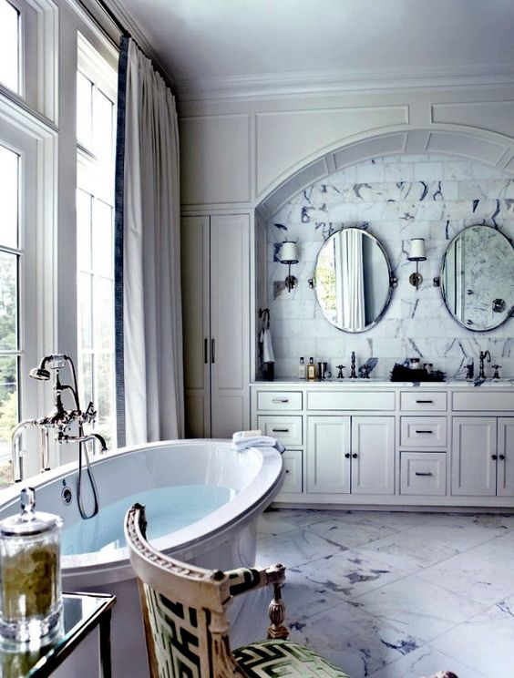 Pinterest the world s catalog of ideas for Neoclassical bathroom designs