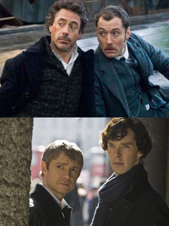 Can you see those two blokes over there? Why are they staring at us like that? (Sherlock meets...Sherlock)