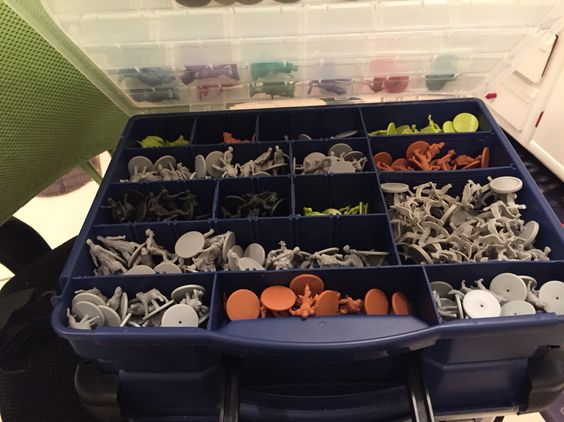Inside of Side #2 for ZOMBICIDE Storage Container...