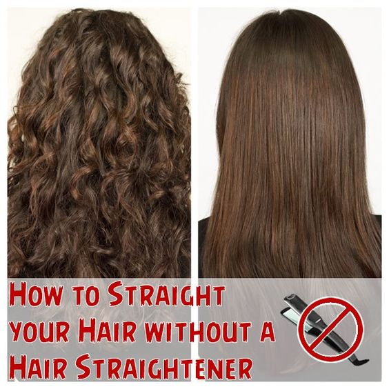 How to Straight your Hair without a Hair Straightener ...