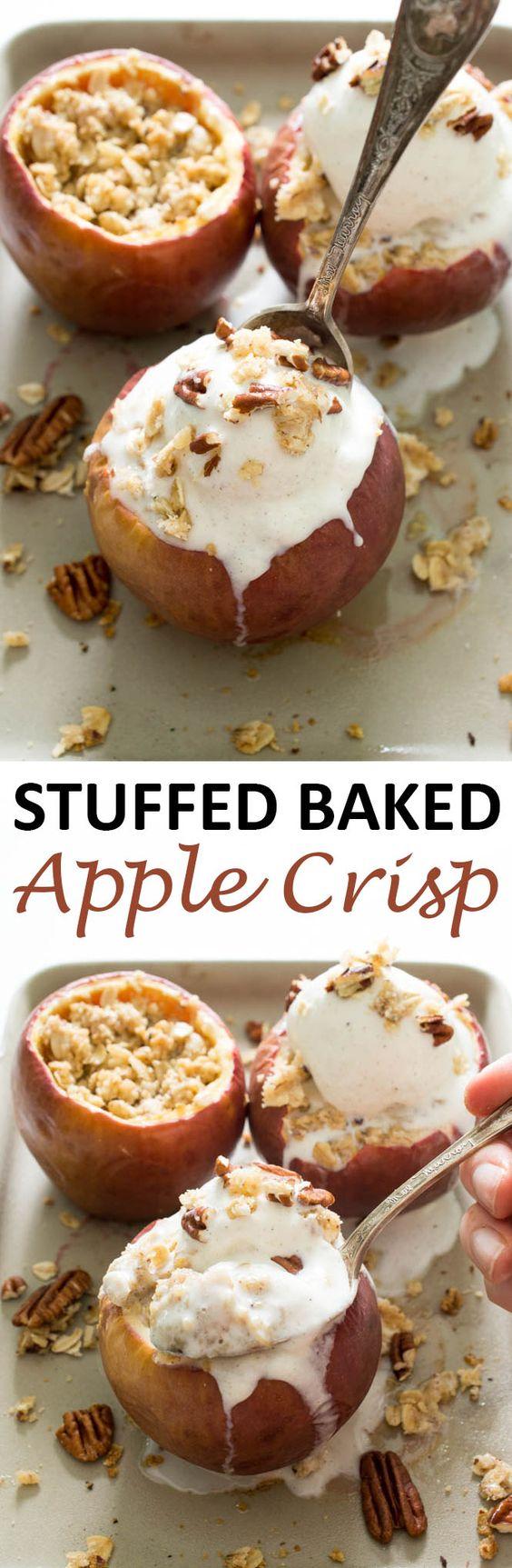 Stuffed Baked Apple Crisp | Recipe | Baked Apple Crisps, Baked Apples ...