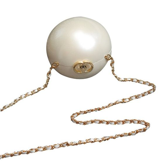 Amazon.com: Women Handbags Chain Pearl Ball Dinner Bag Party Pack (Pearl White): Clothing