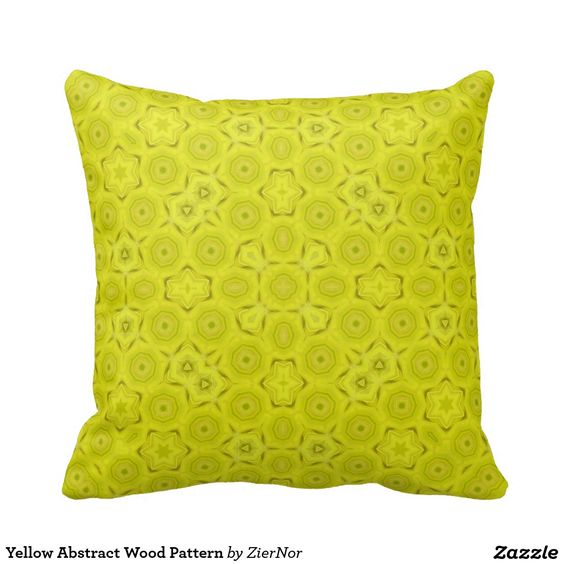 Yellow Abstract Wood Pattern Pillows