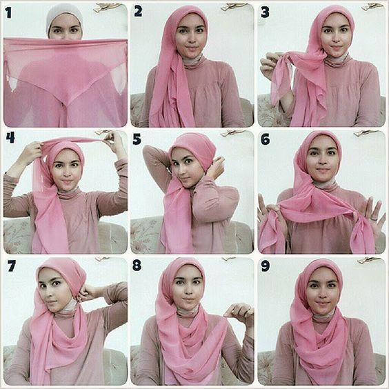 25 Inspirasi Tutorial Hijab Segi Empat Terbaru 2018 Kursus Hijab Hijab