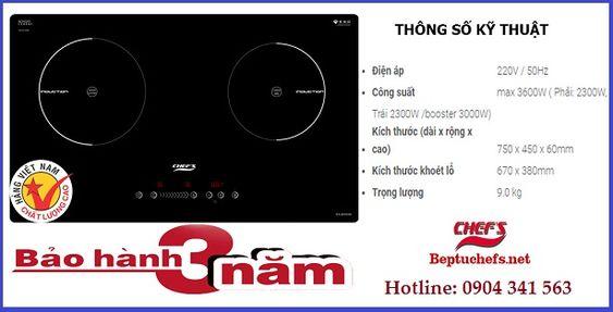 Những model bếp từ Chefs lắp ráp tại Việt Nam bán chạy nhất