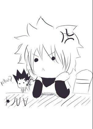 This is so cute!!! I think Gon made Killua mad XD  #Hunterxhunter