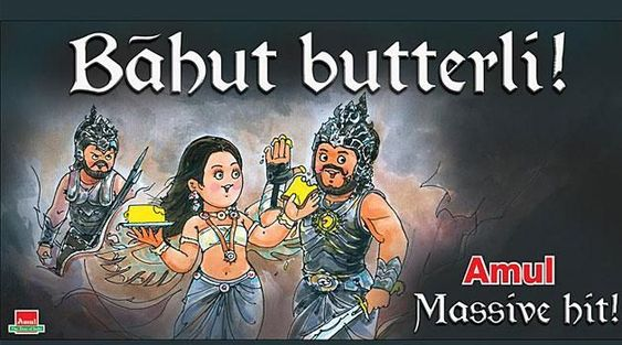 The world was floored as Bahubaali flexed his muscles, the brand was fast to hop on the situation and announce that it was Amul's butter that blessed the Indian hero with all that might and courage.