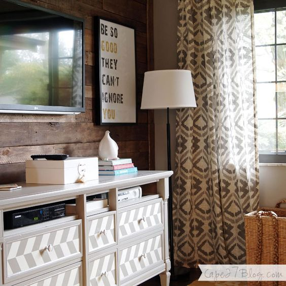 Curtains and refinished tv stand | home | Pinterest | TVs, Tv stands ...