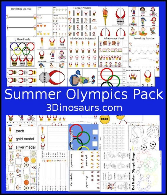 Free Summer Olympics Printables over 100 pages great for