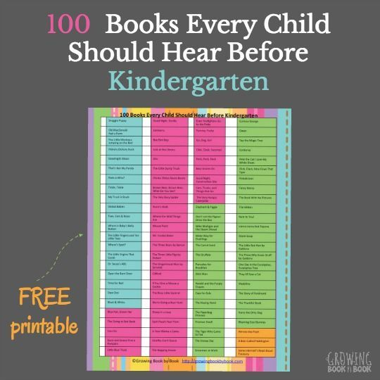 The best books to read to kids before Kindergarten.